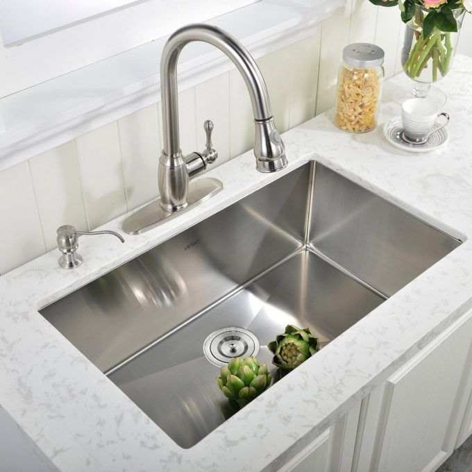 Image Result For Stainless Steel Sink Under White Marble Counter