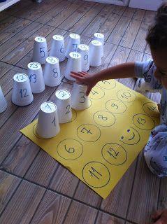 can ve cerenin oyun günlüğü: köpük bardaklardan sayı eşleştirme