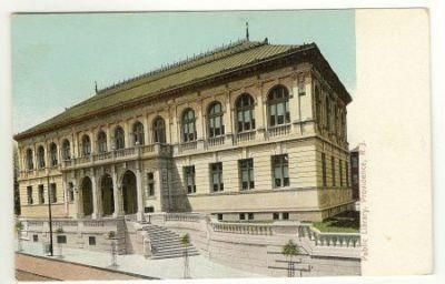 Vintage Color  Postcard  Public Library Providence  R.I. United States by FaysTreasuretrove, $5.75 USD