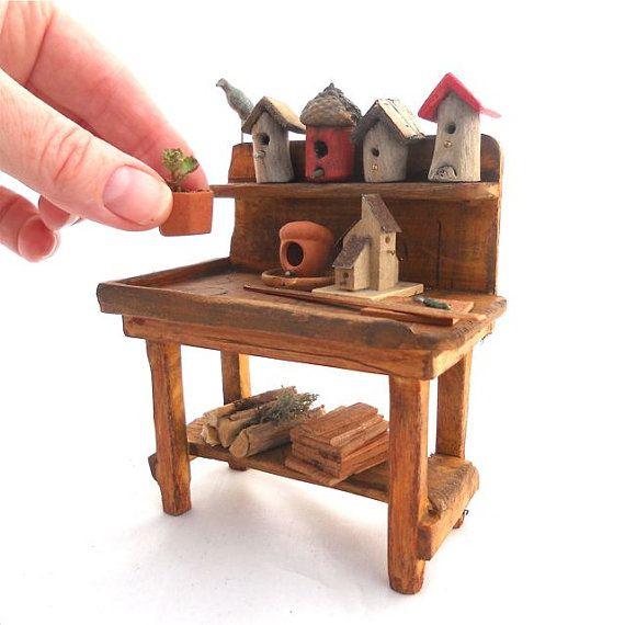 Miniature Bird Lover's Potting Bench