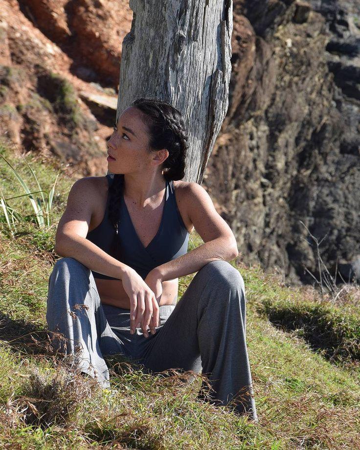 Dancer Katie Sanchez in Byron Bay Beach Pants & Brighter Future Crop www.bayactive.com.au