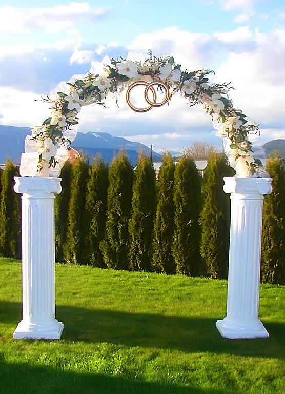 Plastic Decorative Columns for Weddings | Main Page Factory Gallery Wedding Colonnades & Arches Wedding Arch