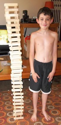 Can you build a tower taller than yourself?
