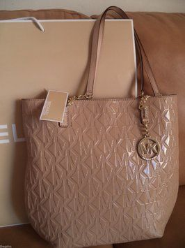 Michael Kors Jet Set Chain Handbag Nude Tote Bag $188