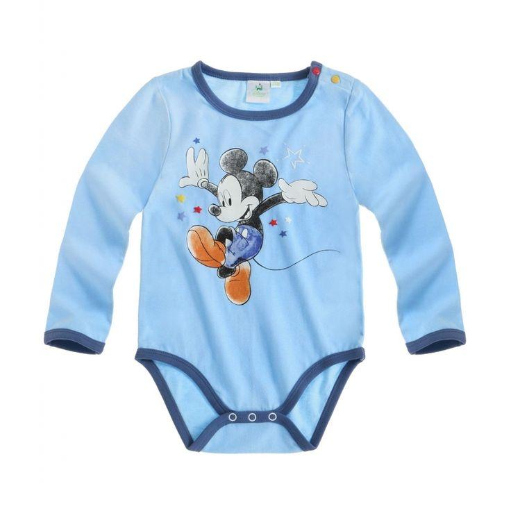 Body cu maneca lunga Disney Mickey albastru