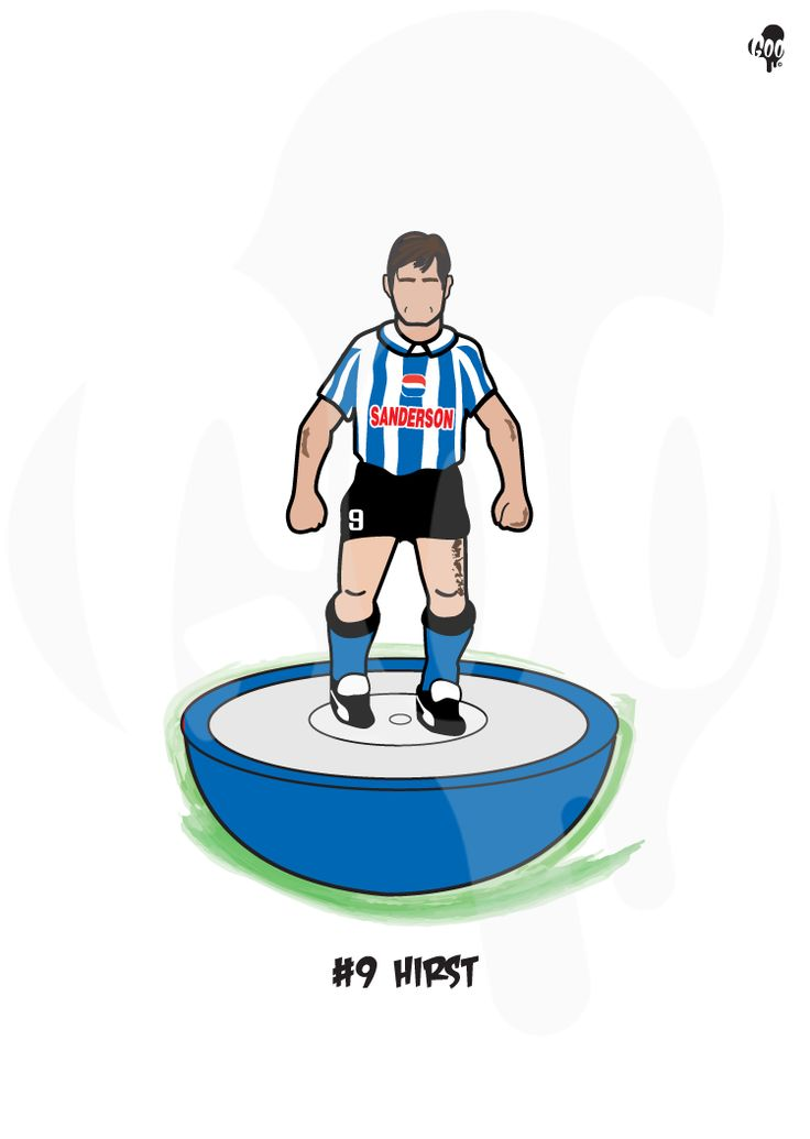 David Hirst ltd edition art now on sale at http://goo-design.co.uk  #sheffieldissuper #Subbuteo #iLoveS #wawaw #swfc