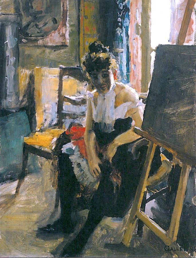 Akseli Gallen-Kallela  In the Studio, 1888
