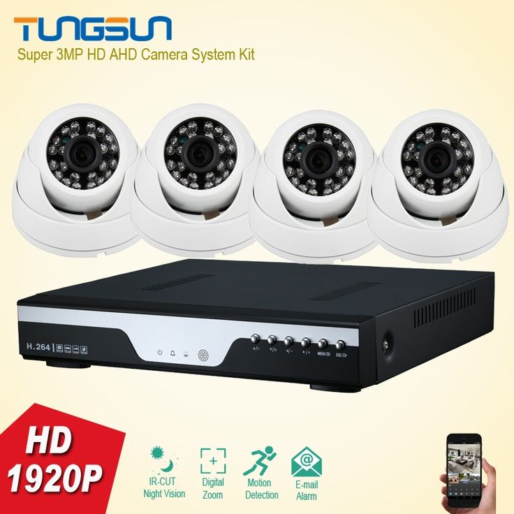 217.87$  Buy here - http://ali2pd.shopchina.info/1/go.php?t=32791667640 - Home Super 3MP Full HD 4 Channel 1920P Security Camera System indoor white Dome Security Camera 4CH DVR CCTV System Kit  #magazineonlinewebsite