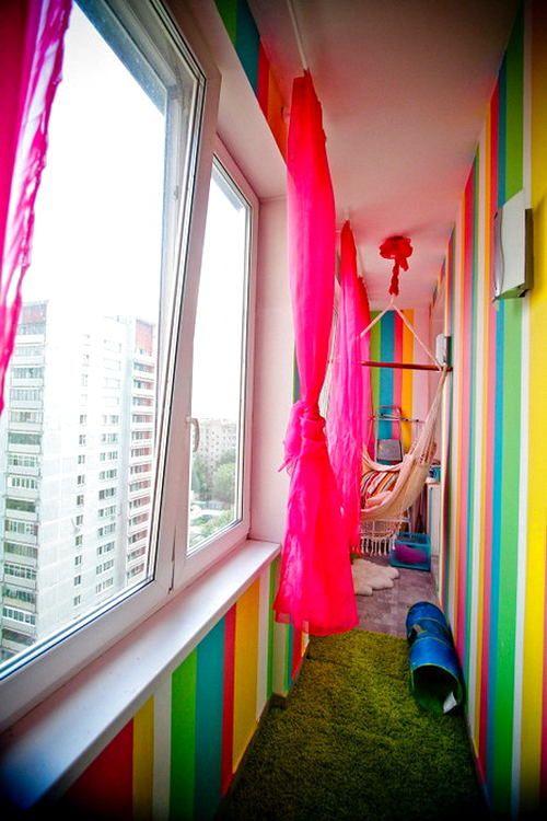 Балкон, веранда, патио в цветах: красный, желтый, голубой, бирюзовый, белый. Балкон, веранда, патио в стиле модерн и ар-нуво.