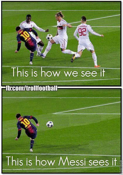 This is how Messi sees it