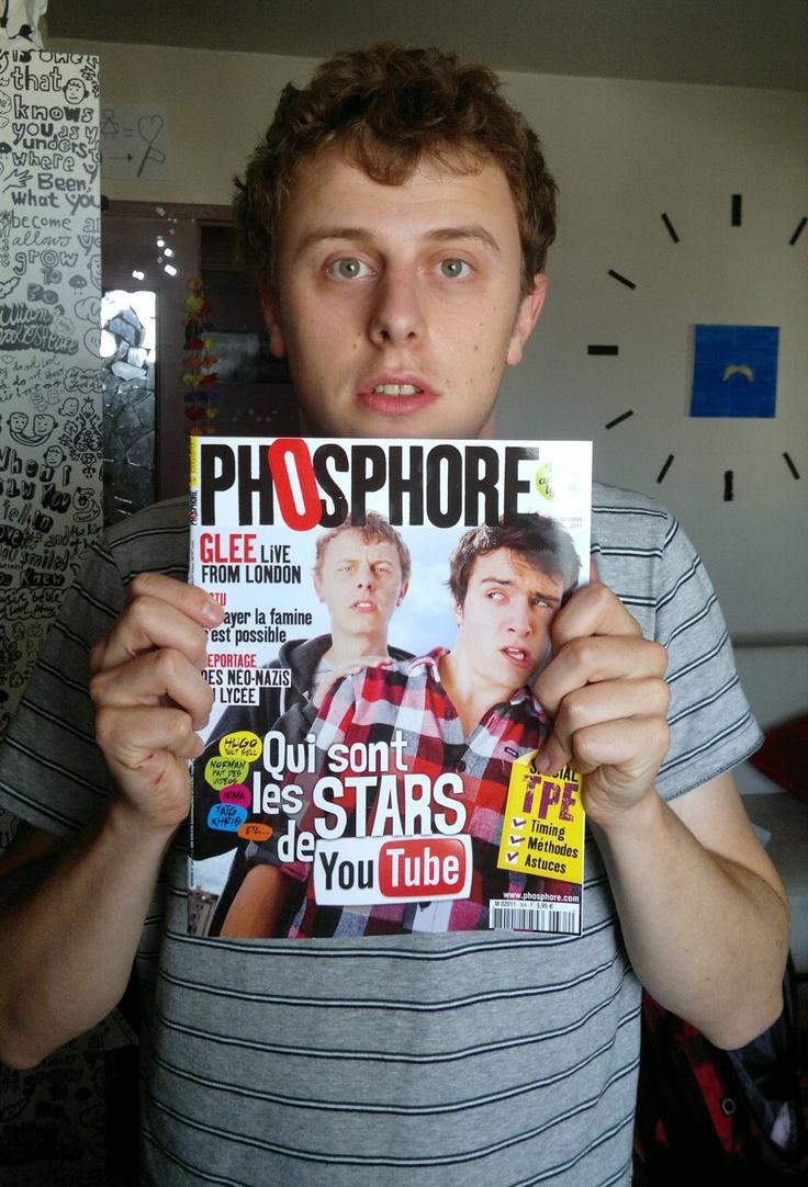 Norman fait des vidéos. Et fait la Une de Phosphore, avec Hugo tout seul, en octobre 2011. #normanfaitdesvideos