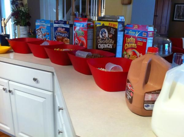 Cereal (and lots of it) was what was on the menu for my son's bday party- it was a huge hit with the 10yr old boy crowd!