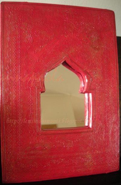 DIY moroccan mirror - cardboard and mirror, brilliantly made