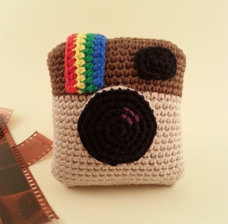 Patrón Cámara Instagram a crochet