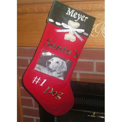 78 best images about personalized christmas stockings on for Personalized dog christmas stocking