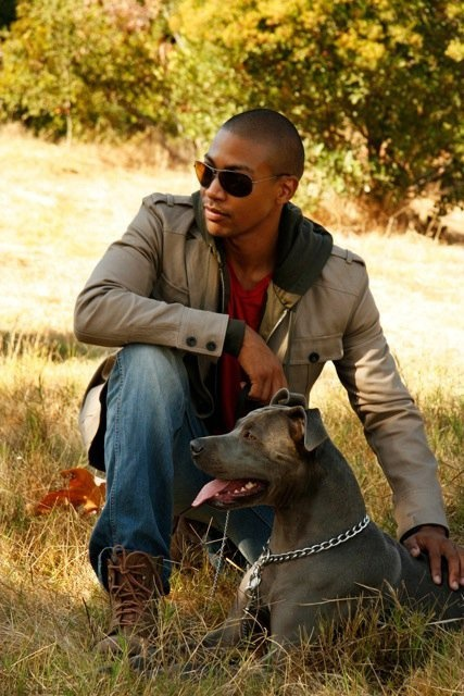 Charles Michael Davis. With a puppy! All my dreams have come true.