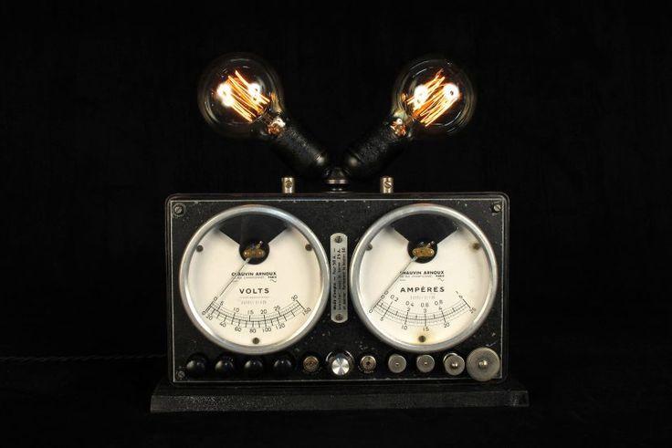 Ancien appareil de mesure mis en lumière. – Old School Bazaar