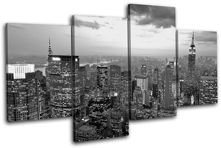 New York NYC Skyline City MULTI CANVAS WALL ART Picture Print VA