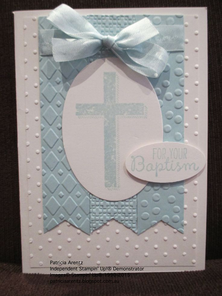 Baptism Card - using Stampin' Up Blessed by God stamp set.