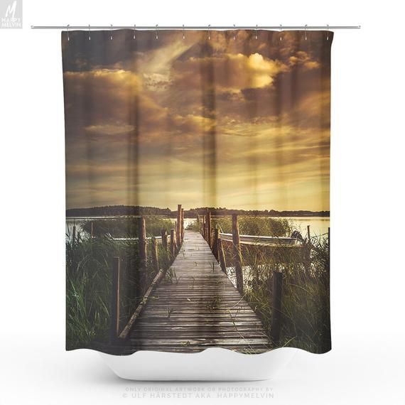 Magical Nature Shower Curtain Sunset Bathroom Curtain Wanderlust Bathroom Decor And Home Decor Making A Statement By Bathroom Curtains Bathroom Decor Curtains