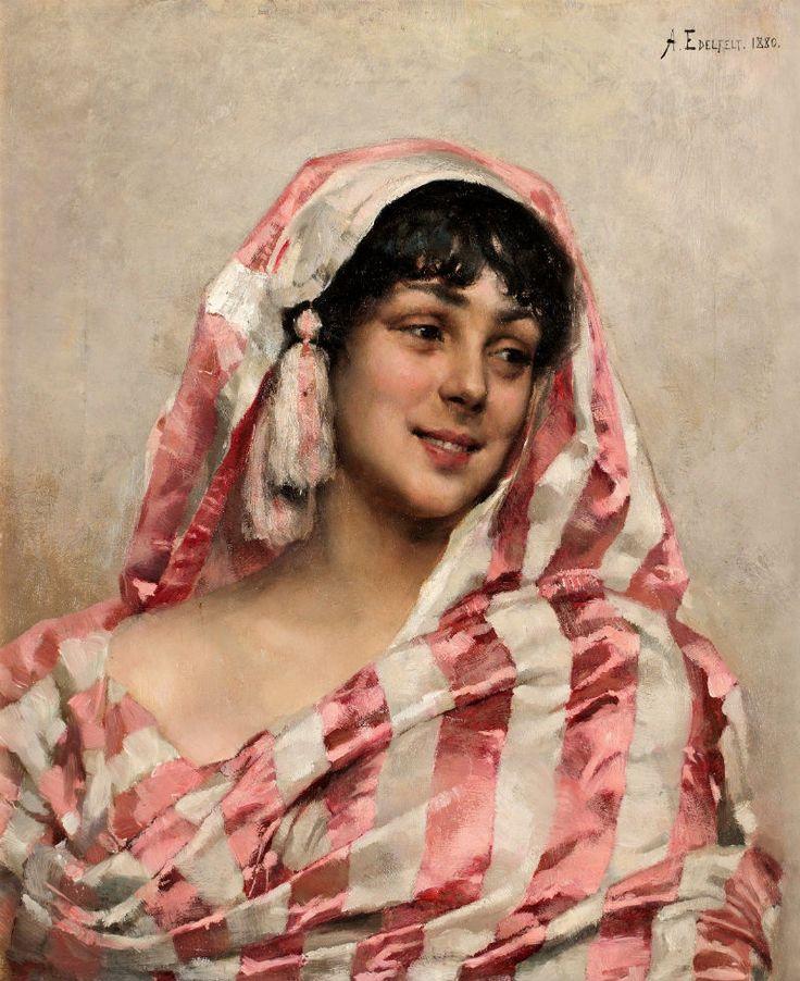 The Athenaeum - Portrait of a Young Woman (Albert Edelfelt - )