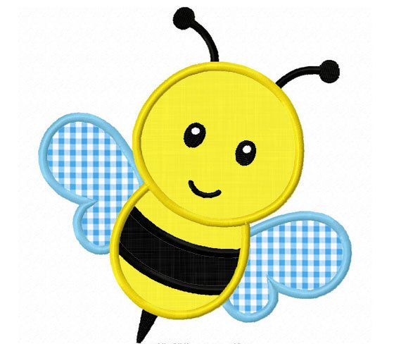 Bee Applique Machine Embroidery Design by LovelyStitchesDesign, $2.99