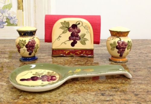 Tuscany-Colorful-Grapes-Hand-Painted-Table-Top-Set