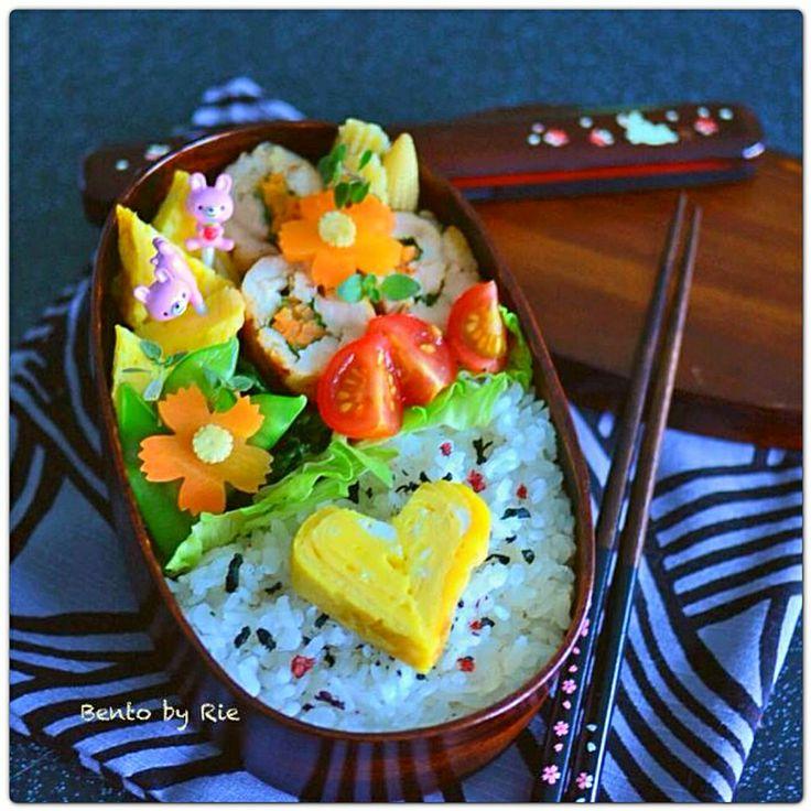 ♥️heart shape tamagoyaki bento