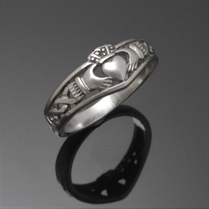 Silver Claddagh Ring - Claddagh Ring - Celtic Knot Claddagh Ring - Irish Claddagh Ring - Unisex Claddagh Ring - Made in Ireland by celticicejewellery on Etsy