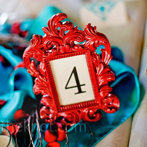 Fun frames for table numbers allows me to have several types of frames and then I can spray paint them my wedding colors.