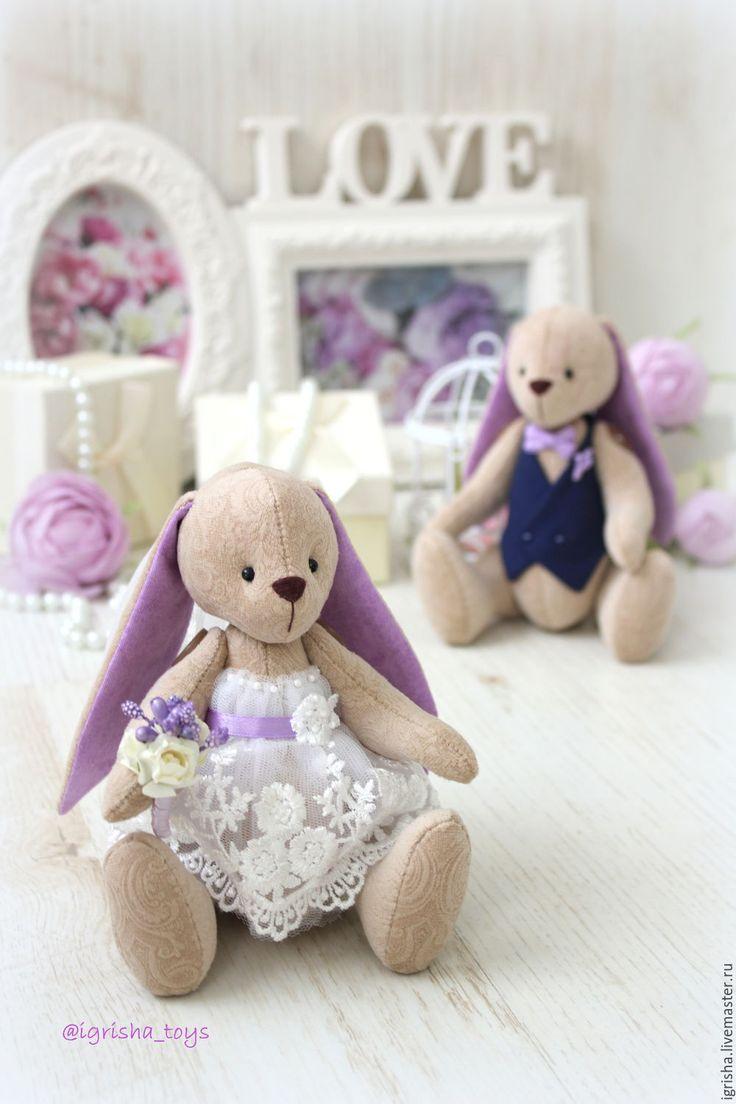 Купить Свадебные зайчата  lavender - свадьба, свадебные аксессуары, свадебные зайцы, зайки, заяц, зая