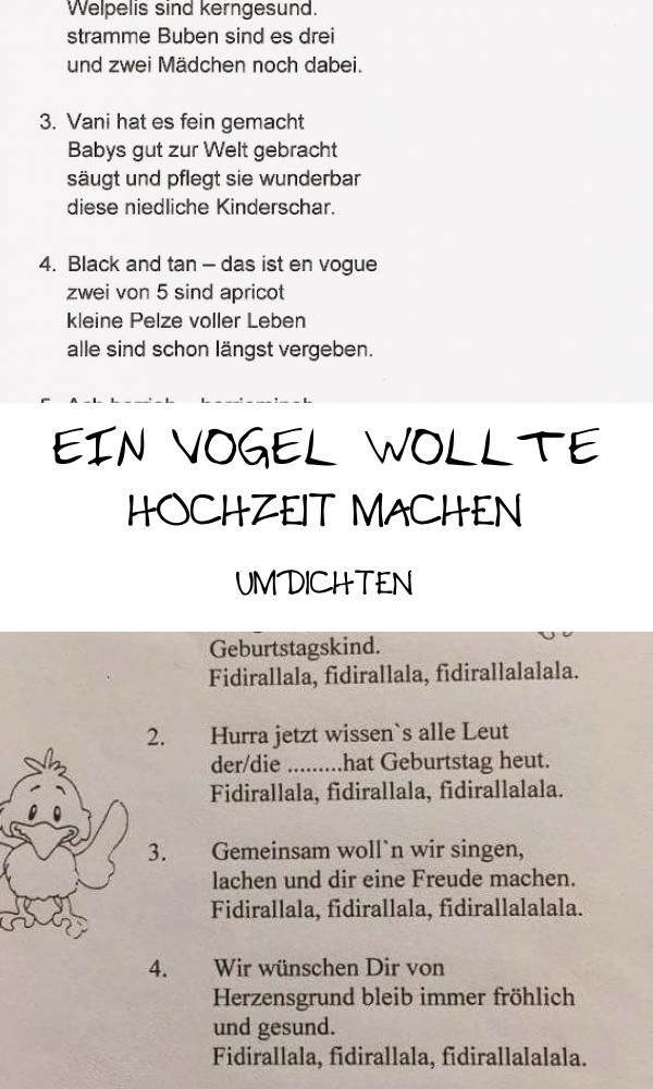Top 14 Ein Vogel Wollte Hochzeit Machen Umdichten Person Personalized Items Wedding
