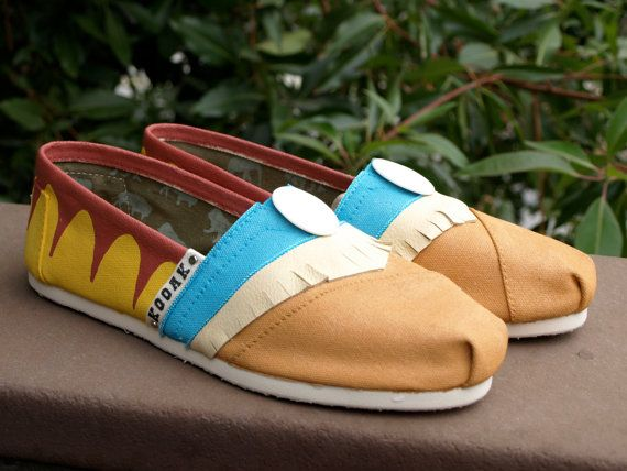 KOOAK Kustoms Disney Pocahontas Inspired Toms by KammysOneOfAKind, $150.00 freaking love these