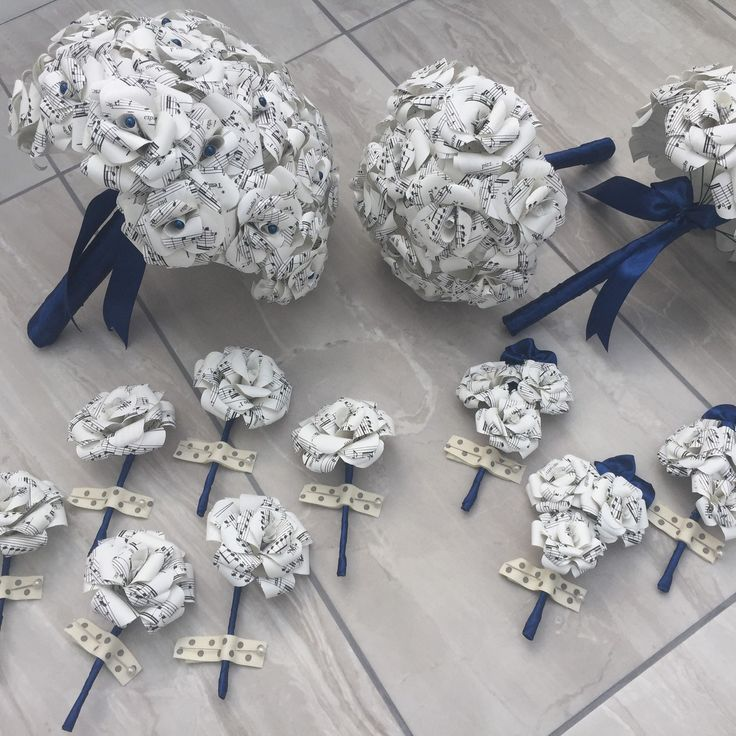 Custom made paper wedding flowers - any style, theme or colours