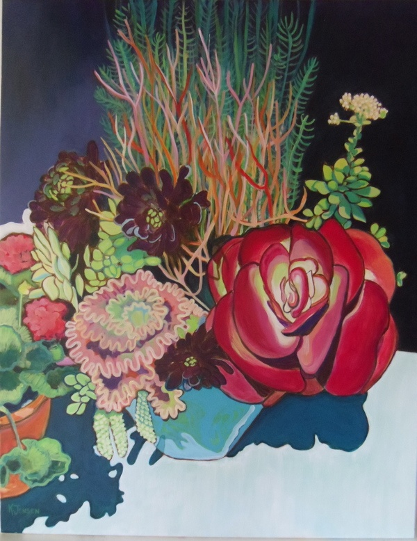 California Succulents by Kathleen Nordell Jensen, via