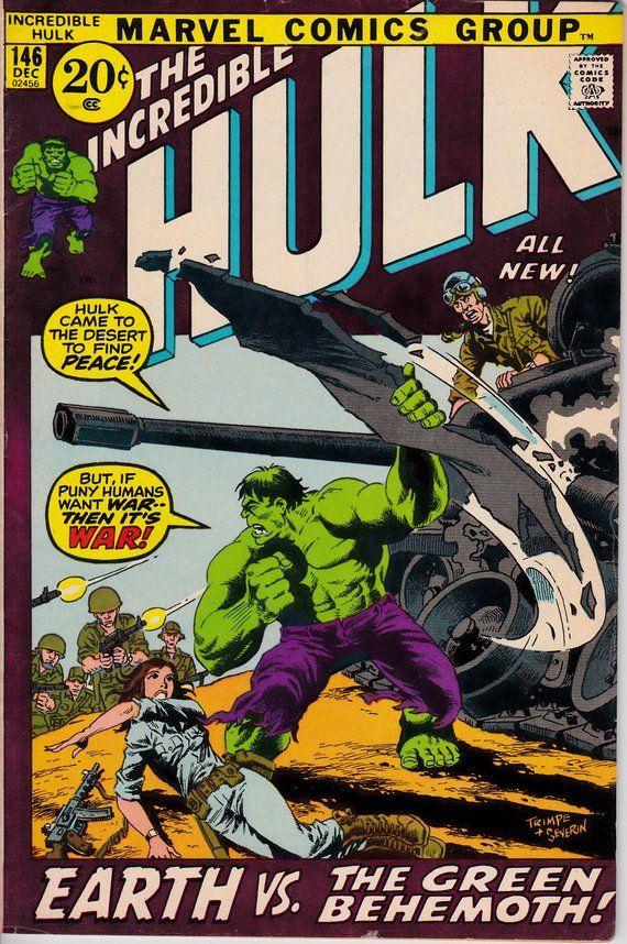 2332 best marvel covers images on pinterest comics marvel comics the incredible hulk 146 1st series 1962 1999 december 1971 marvel comics fandeluxe Gallery