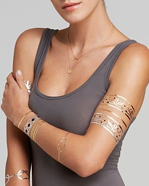 These metallic temporary tattoos are SO COOL!!!!  I need them!!! …