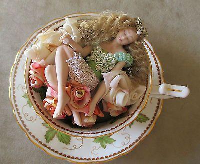 Teacup Fairy Fairy Dreams Ooak Handmade Porcelain