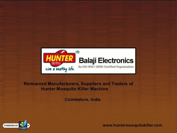 www.huntermosquitokiller.com - Mosquito Killer Machine Manufacturer in Coimbatore. Manufacturers, Suppliers and Traders of Mosquito Killer Machine that are most effective in destroying the pesky flying insects. The range comprises of Mosquito Killer Machine, Hunter Mosquito Killer Machine, Electronic Mosquito Killer Machine, Insect Killer Machine. Balaji Electronics, Tamilnadu, India.