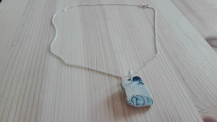 Necklace 2 Blue ceramic made by India with our sterling silver findings https://www.etsy.com/shop/PurrrMurrr?ref=seller-platform-mcnav&search_query=sterling+silver