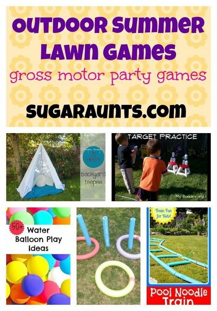 Looking for some fun outdoor lawn games for a summer party? Look no further. We put together a list from some of the most creative bloggers out there! #