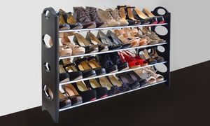 Suitable for a closet or against a wall, this shoe rack helps preserve shoes and decreases clutter