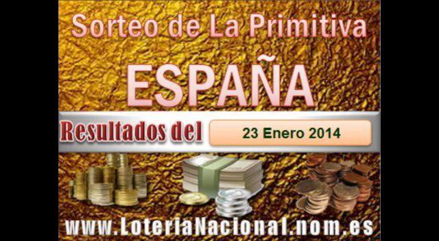 Loteria Nacional presenta La Primitiva resultados sorteo Jueves 23 de Enero de 2014. Creditos: www.loterianacional.nom.es