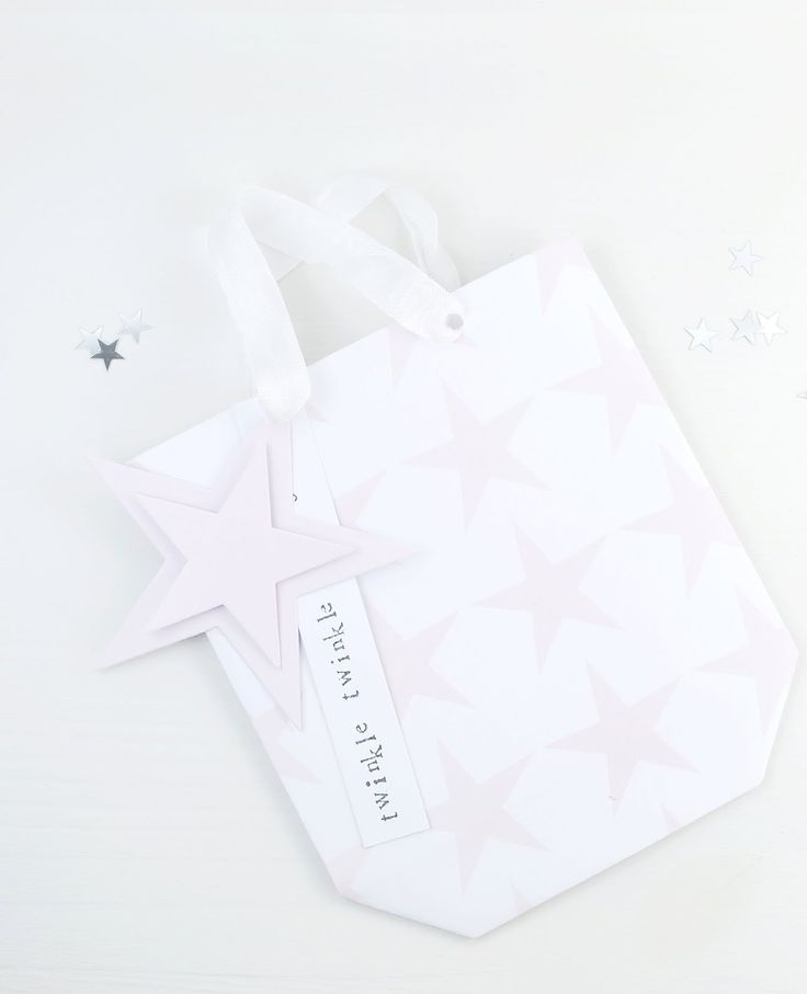 Simple Paper Gift Bag made with 'Blush Star' paper from the 'Molly Rose' Collection at The Lovely Studio.