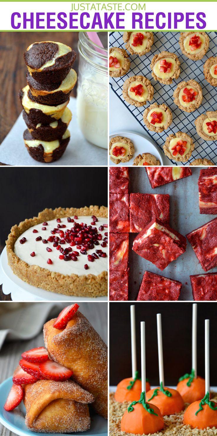 Easy Cheesecake Recipes via justataste.com
