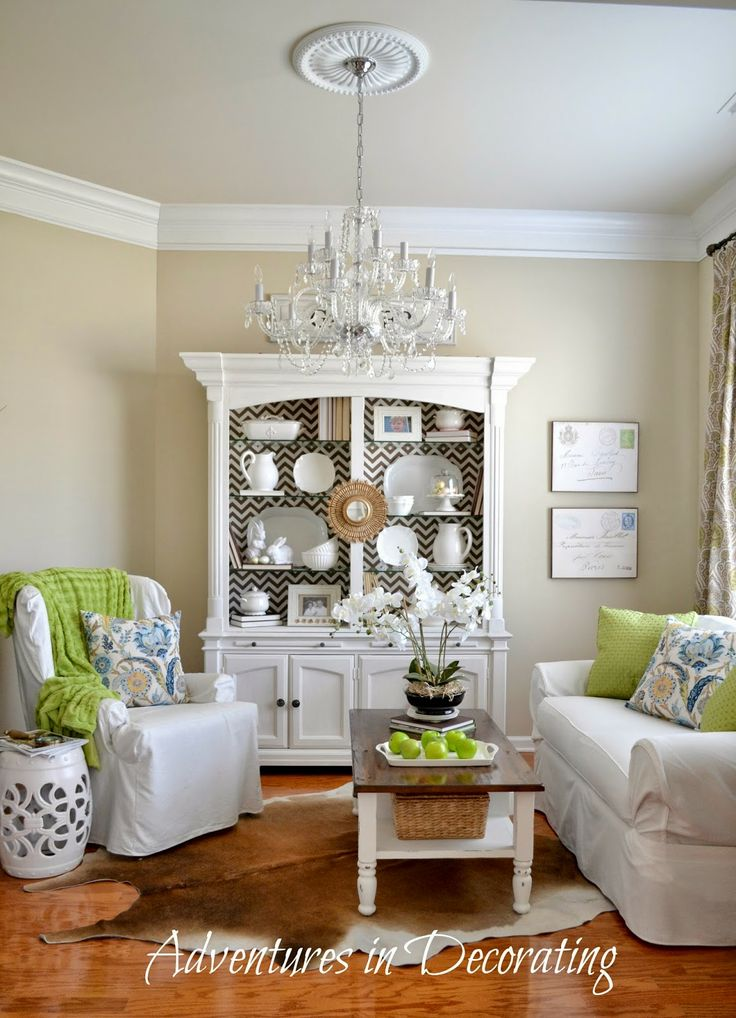 China cabinet in living room