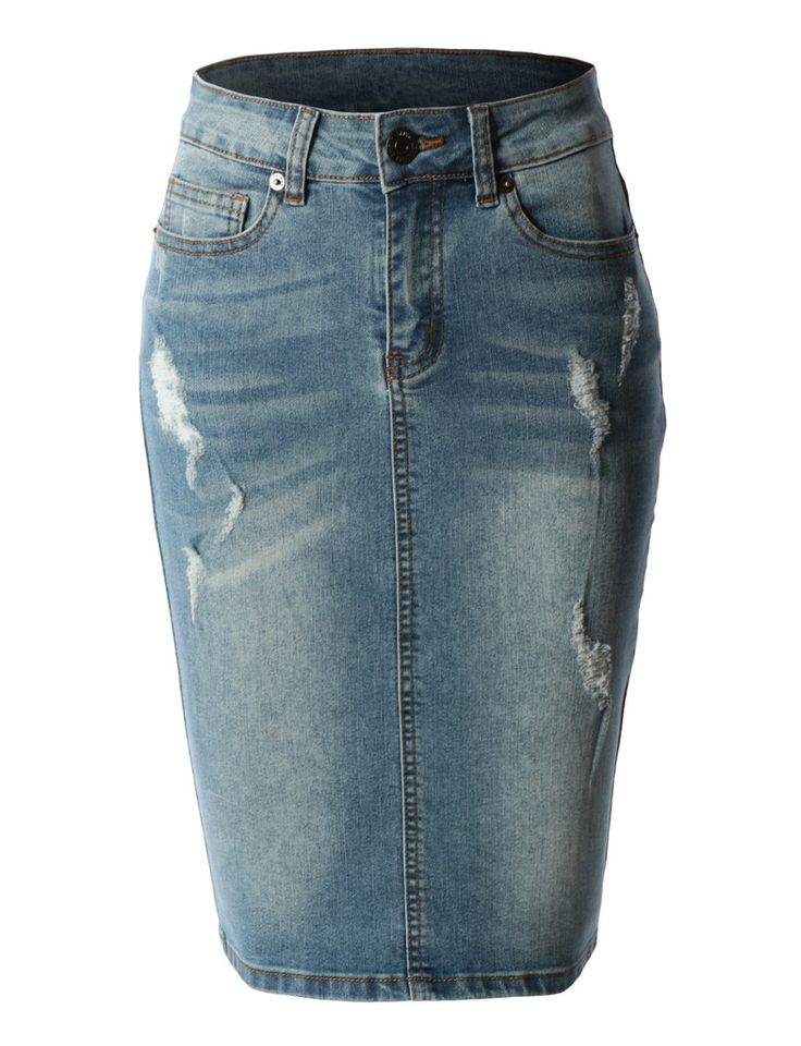 1000 ideas about high waisted jean skirts on