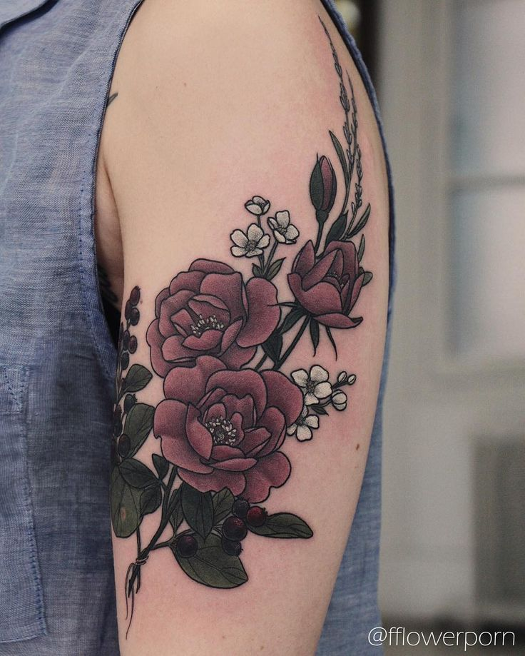 25+ best Vintage Flower Tattoo - 104.9KB