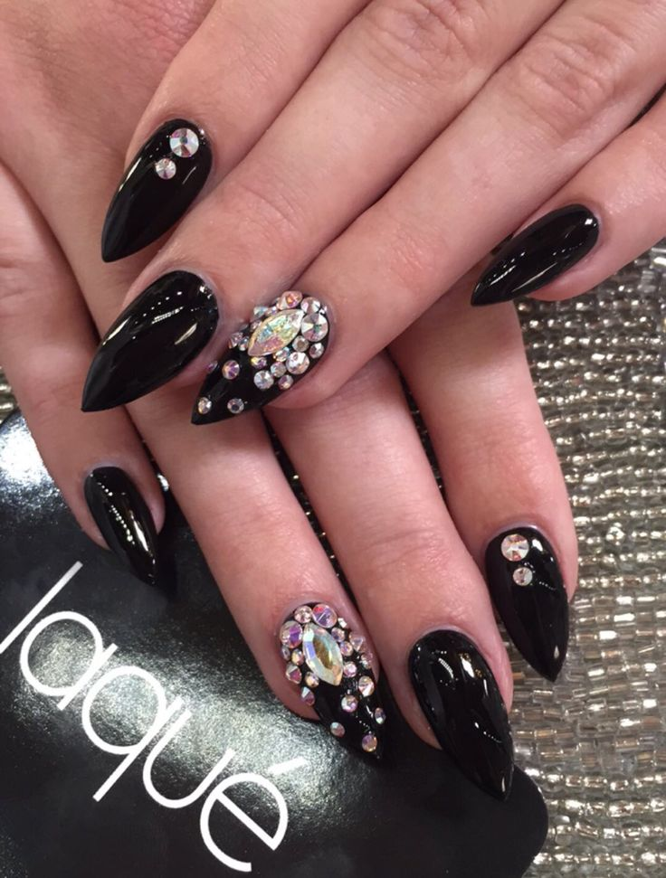 73 Best Blinged Out Nail Designs Images On Pinterest