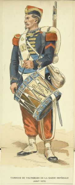 Drummer Of The Voltigeurs Of The French Imperial Guard. c 1870